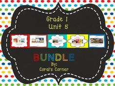 This 1st grade, Unit 5 (Weeks 1-5) highly INTERACTIVE journal contains over 30 pages of student activities aligned to the McGraw Hill Wonders series.   It is ideal for teaching all of the skills in this Unit in a powerful, student-friendly way!