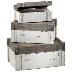 Cyan Design Alder Boxes, Set of 3 found on Polyvore