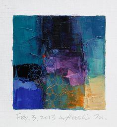 Hiroshi Matsumoto - Feb. 3, 2013 - Original Abstract Oil Painting - 9x9