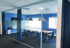 Office Design, Bright Colors. Bisnode Aarhus. Design by Norbec ApS
