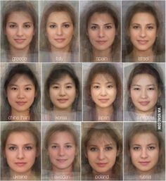 The Average Faces of Women Around the World 2