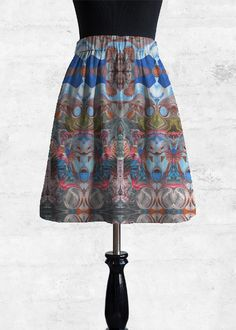 Cupro Skirt - Nubian Dream 2 in Rainbow by VIDA Original Artist Signature Design, Fashion Labels, A Line Skirts, Clothing, How To Wear, Outfits, Outfit Posts, Kleding, Clothes