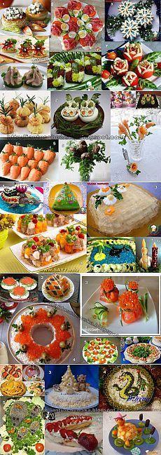 Новогоднее оформление блюд   Интересные рецепты