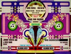 Rock Posters, Band Posters, Music Posters, Fillmore West, Dave Mason, Grand Funk Railroad, John Mayall, Vintage Concert Posters, Music Sites