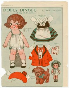 75.2993: Dolly Dingle | paper doll | Paper Dolls | Dolls | National Museum of Play Online Collections | The Strong