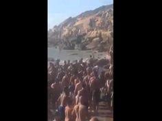عصابة حاملة للسيوف تهاجم شابا بشاطئ اشقار امام انظار المصطفين