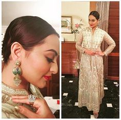 Elegant! Stunning! Beautiful! Sonakshi Sinha in a gotapatti net jacket by ‪#‎AnitaDongre‬ and ‪#‎Pinkcity‬ earrings at her best friend's wedding. Masti times #Pinkcity Jet Gems ‪#‎earrings‬ ‪#‎beautiful‬ ‪#‎celebstyle‬ ‪#‎bollwoodfashion‬ ‪#‎SonakshiSinha‬ ‪#‎TheWeddingDiaries‬