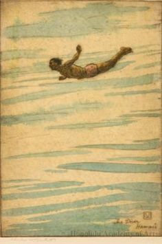 Charles W. Bartlett - The Diver Hawaii