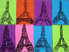 cardboard printed Eiffel Towers