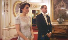 Duke and Duchess Catherine of Cambridge at a diplomatic reception