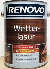 Renovo Wetter Lasur 2 5 L 9 12 L Wetterlasur Farbe Holzlasur