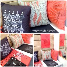 Couleurs du printemps Throw Pillows, Bed, Home, Spring, Colors, Toss Pillows, Cushions, Stream Bed, Ad Home