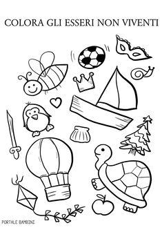 esseri viventi e non viventi 2 Teaching Phonics, Montessori, Worksheets, Kindergarten, Preschool, Teacher, Science, Activities, Kids Education