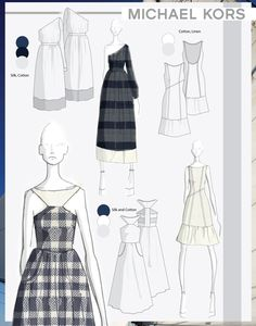 Collection of Dresses for Michael Kors by Oliver Zachary Selby, via Behance