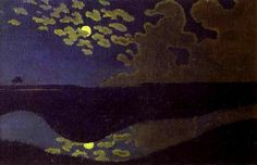 Moonlight | Félix Edouard Vallotton |(December 28, 1865 – December 29, 1925) a Swiss painter and printmaker associated with Les Nabis. He was an important figure in the development of the modern woodcut.