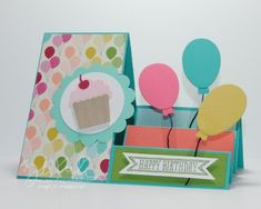 Video: Stair step birthday pop up card by amykunkle - Cards and Paper Crafts at Splitcoaststampers