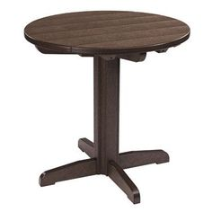 "Bay Isle Home Trinidad Bistro Table Table Size: 33"" L x 33"" W x 43"" H, Finish: Blue"