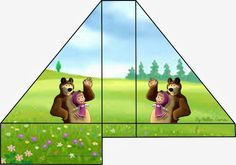 http://fazendoanossafesta.com.br/2015/05/masha-e-o-urso-mini-kit-festa.html/