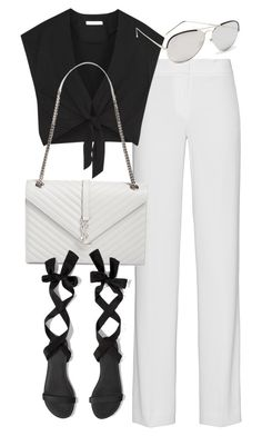 """Untitled #19781"" by florencia95 ❤ liked on Polyvore featuring DKNY, Alice + Olivia, Yves Saint Laurent, Abercrombie & Fitch and Linda Farrow Luxe"
