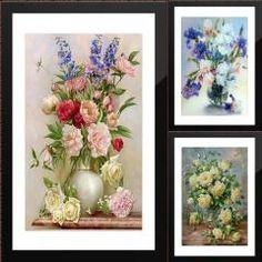 [ 56% OFF ] Flower Arranging 5D Diy Diamond Painting Flowers Cross Stitch Diamond Embroidery Mosaic Diamonds Wall Stickers Home Decor Vase