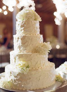 white wedding cake - California Weddings: http://www.pinterest.com/fresnoweddings/