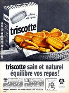 des  triscottes du petit déjeuner Sweet Cars, Vintage Advertisements, Vintage Ads, Hey Little Girl, Food Gallery, Food Advertising, Childhood Days, Sweet Memories, Madeleine
