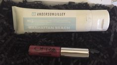 Anderson Lilley Manhattan Beach - Beach Butter hand cream (new just barely unsealed to smell) & Ofra Liquid Lipstick in Manhattan (swatched on hand) - from April 2016 Boxycharm (Would prefer to trade Ofra for a diff shade) - (Ofra lippie traded. Lotion is still available)