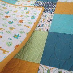'Flynn' #buttonandlou #babyquilt #homemade #babygift #nurserydecor #keepsake…