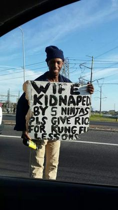 Beggar humour...only in South Africa