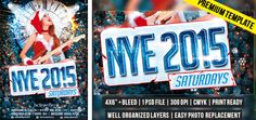 New Year Saturdays – Premium Flyer Template http://www.exclusiveflyer.com/premium-templates/new-year-flyers/new-year-saturdays-premium-flyer-template/