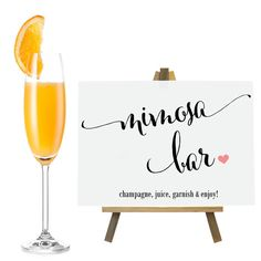 Hey, I found this really awesome Etsy listing at https://www.etsy.com/listing/214149435/mimosa-bar-sign-wedding-sign-party