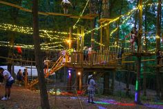 """The adventure park hosts all sorts of special events throughout the year, from evening """"glow nights"""" to 60s-themed climbs complete with costumes and decor."""