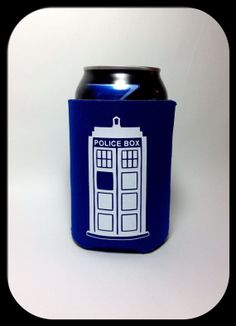 Doctor Who Tardis Cold Can Koozie w Many Colors on Etsy, $5.00