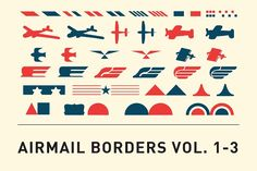Airmail Borders Vol. 1-3 by Thrift Shop Creative on @creativemarket