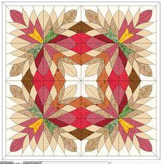Paper Piecing Patterns, Quilt Block Patterns, Quilt Blocks, Pattern Blocks, Star Quilts, Scrappy Quilts, Mini Quilts, Cleopatras Fan Quilt, Geometric Quilt