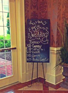 Creative Wedding signage  created by the Ladies of #SouthernBridesonabudget