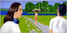Alex Katz - Walk, 1971, oil on canvas, 72 x 144 inches, Carnegie Museum of Art