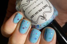 Love. Varnish, chocolate and more...: Swatches & Review - Crazy Polish Lady shades.  Lovely indie polish called A Whole New World.