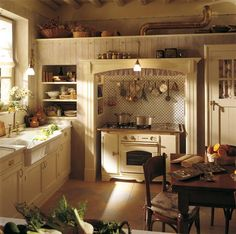 Image Detail For English Country Kitchen Style In Beige And White 3 Fabulous Small