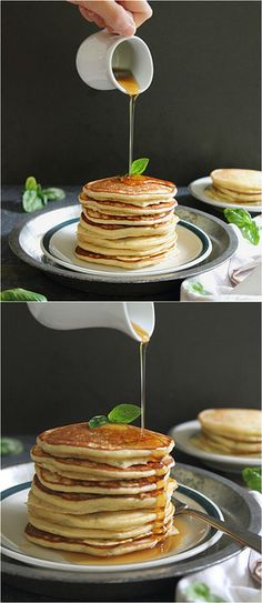 Orange Basil Ricotta Pancakes by runningtothekitchen #Pancakes Orange #Basil #Ricotta