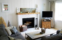 i love how this living room is cozy like a cottage but liveable for the home.