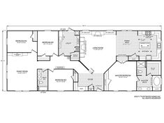 Eagle Trace II – Destiny Homes of Florida Tiny House Plans, House Floor Plans, Fleetwood Homes, Mobile Home Floor Plans, Large Floor Plans, Modular Home Floor Plans, Mobile Homes For Sale, 1 Gif, Pole Barn Homes