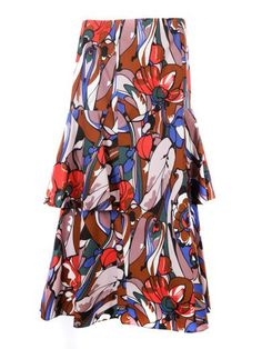 MARNI Marni Lectric Print Midi Skirt. #marni #cloth #skirts