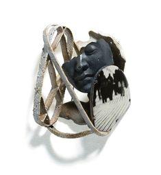 #Sculptural #brooch by Yeonmi Kang: