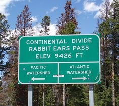 Continental Divide at Rabbit Ears Pass in Colorado.