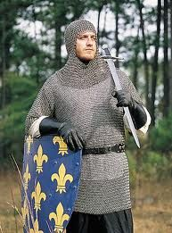 Chain mail and mail coif (protective head gear).