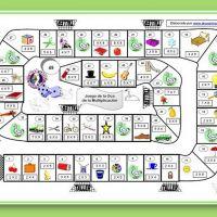 Juego de la oca para aprender las tablas de multiplicar Math Board Games, Classroom Games, Math Games, Activities For Kids, Teaching Spanish, Teaching Math, Familia Y Cole, Spanish Games, Spanish Vocabulary