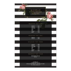 Salon Brochure Beauty Makeup Artist Cosmetologist Card  Brochures