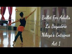 Ballet For Adults La Bayadere Nikiya's Entrance Act 1 Adult Ballet Class, Ballet Terms, La Bayadere, Ballet Dancers, Ballet Feet, Ballet Barre, Back To Basics, Dance Outfits, Party Outfits