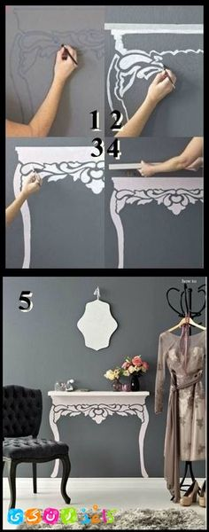 Dress up a floating shelf- such a cute idea!
